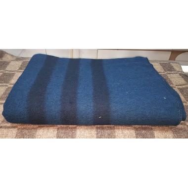 Одеяло армейское полушерстяное синего цвета