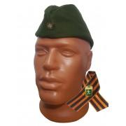 Пилотка военная зеленого цвета с полевой звездой