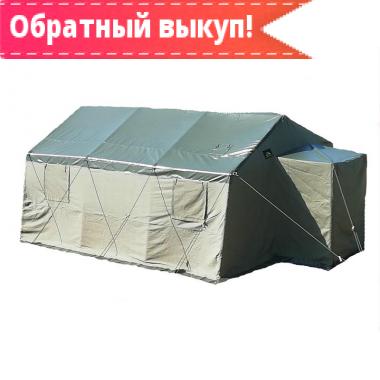 Армейская брезентовая палатка «Гарнизон-10» с производства