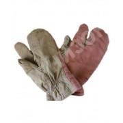 Рукавицы трехпалые утепленные коричневого цвета