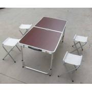 Стол раскладной алюминиевый + 4 стула